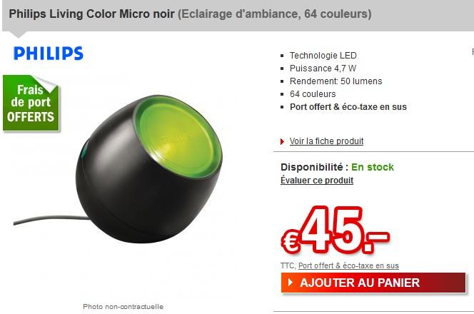 Le moins cher philips living color micro noir 64 - Frais de port gratuit parfum moins cher ...