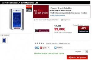 LE PLUS BAS PRIX : Cave à vin 6 bouteilles LA SOMMELIERE a seulement 99 euros au lieu de plus de 120 euros.