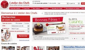 Moins 15% sur les Cours de cuisine et carte L'atelier des Chefs - Code promo spécial soldes !