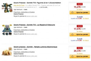 Moins 70% sur les Gormiti à la FNAC (de 2 à 20 euros)