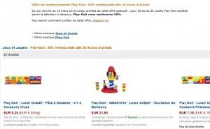 Offre de remboursement Pâte à Modeler Play-Doh – 50% de remboursé pour 20 euros d'achat