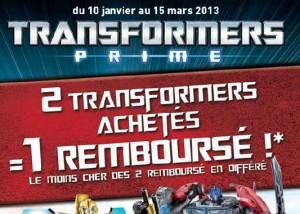 Opération 2 Transformers achetés = 1 Transformers 100% remboursé (ODR Hasbro)