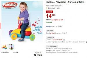 Porteur à Balle Playskool a 14,67 euros (vendu entre 32 et 49 euros ailleurs)