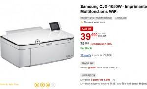 Seulement 39,90 euros ! Imprimante Multifonctions WiFi Samsung à moitié prix !