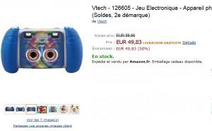 Soldes ! Appareil photo Kidizoom 3D Vtech à seulement 49,93 euros (port inclus)