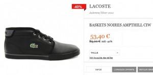 SOLDES Baskets Lacoste Ampthill CIW à seulement 53,40 euros (port inclus)