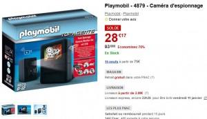 Soldes Caméra d'espionnage Playmobil à seulement 28,17 euros