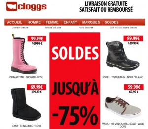 soldes cloggs hiver 2013