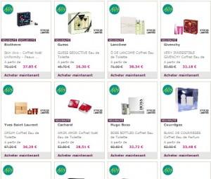 Soldes coffrets Parfums chez Marionnaud (à partir de 26 euros)