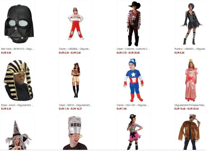 SOLDES Costumes enfant et adulte jusqu'à moins 70% (à partir de 3 euros) dernière démarque