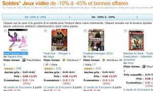 Soldes Jeux Vidéo (Nintendo, Playstation, PC, Xbox) sur Amazon !