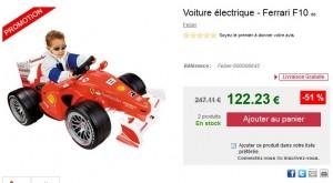 PROMO Voiture électrique Ferrari F10 de Feber a 122 euros (port inclus) vendue plus de 150 euros ailleurs