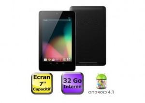 Tablette Google Nexus 7 32 Go (Asus) à moins 215 euros (entre 249 et 259 euros ailleurs) LE PRIX LE PLUS BAS !