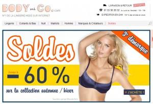 Troisième démarque lingerie chez Body&Co ! Jusqu'à moins 60% sur des grandes marques (livraison gratuite)