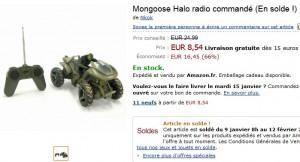 Véhicule télécommandé Mongoose Halo à seulement 8,54 euros au lieu de 24,99 euros (SOLDES)