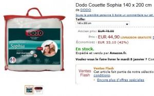 Vente Flash Couette Dodo anti-acariens et anti-tâches à moins de 45 euros (port inclus) au lieu de 78 euros