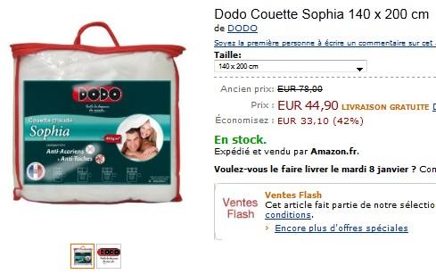 Vente flash couette dodo anti acariens et anti t ches moins de 45 euros po - Couette dodo anti acarien ...