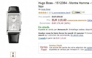 Vente Flash ! Montre Hugo Boss à seulement 119,60 euros au lieu de 299 euros.