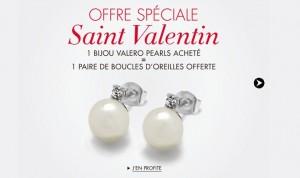 1 bijou en perle de culture Valero Pearls acheté = 1 paire de boucles d'oreilles offerte  (vingtaine d'euros la parure..)