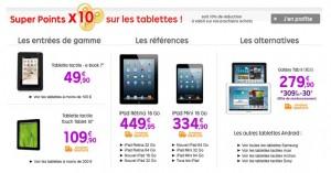 10% sur toutes les Tablettes en bon d'achat (aujourd'hui seulement)