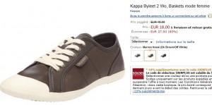 16,20 euros les Baskets femme Kappa (port inclus)
