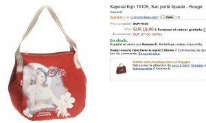 18 euros le Sac Kaporal Rouge au lieu de 45 euros