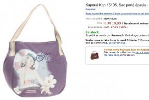 18 euros le Sac Kaporal Violet au lieu de 45 euros