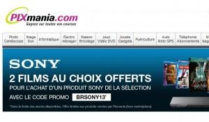 2 Blu-Ray offerts pour l'achat d'un lecteur Blu-Ray ou Home cinéma Sony