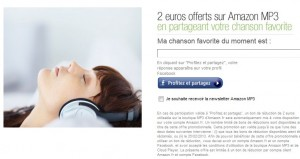 2 euros gratuits en MP3 chez Amazon