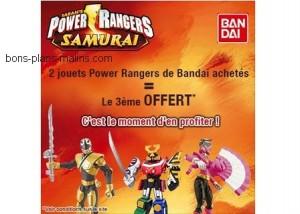 2 Power Rangers achetés = Le 3ème offert