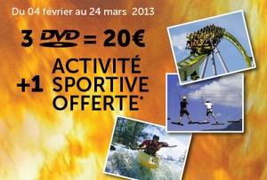 3 DVD + 1 Activité Sportive pour 20 euros – Offre Cultura/20th Century Fox