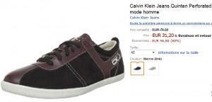 31,20 euros les baskets Calvin Klein au lieu de 78 euros