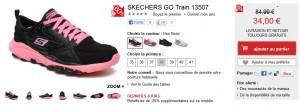 34 euros les chaussures SKECHERS femme au lieu de 85 euros