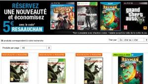 code promo 5 euros de réduction immédiate sur tous les jeux vidéo en précommandes