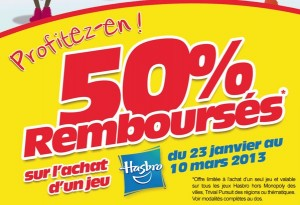 50% Remboursee HAsbro jeu