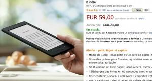 59 euros le Kindle de Amazon - Aujourd'hui seulement