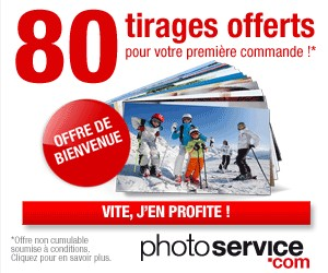 80 tirages photos pour 2 euros (retrait en magasin PhotoService)