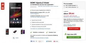 BON PLAN Sony XPERIA Z SFR