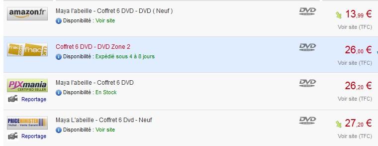 Coffret DVD Maya le moins cher