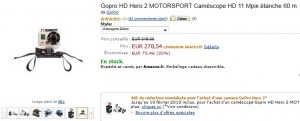 GoPro Hero 2 Motorsport edition a 238 euros