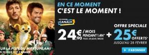 Offre du moment pour un abonnement Canal plus fevrier 2013