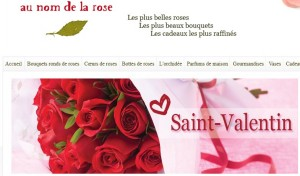 Saint valentin Fleurs Au nom de la rose