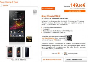 Sony XPERIA Z Orange