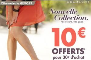 Code promo Gemo 10 euros pour 30 euros d'achat