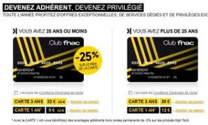 carte adherent FNAC