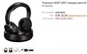 Casque sans fil Thomson WHP 3001 à seulement 26,90 euros (port inclus) – le plus bas prix