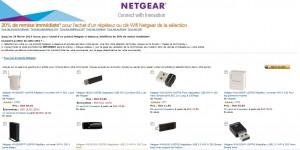 20% de réduction sur répéteurs et clés Wi-Fi Netgear - Code promo  Amazon
