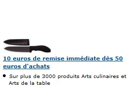 Code promo Amazon 10 euros de réduc sur articles Cuisine et Maison