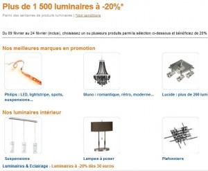 CODE PROMO AMAZON ! 20% sur les luminaires