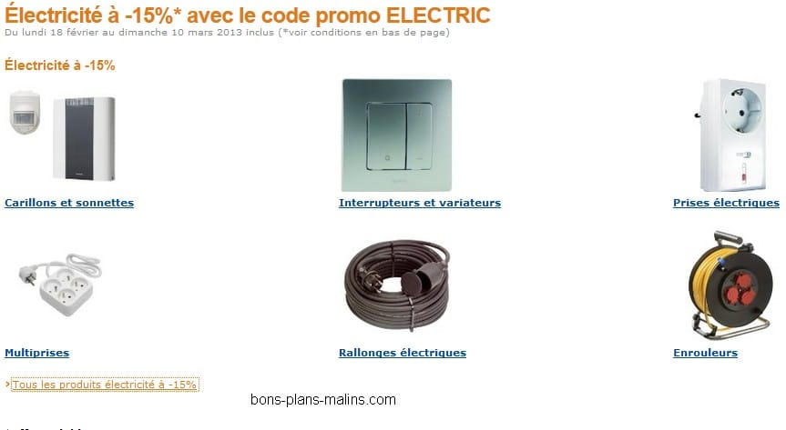 trendy cheap code promo moins sur matriels lectrique multiprises prises with code promo